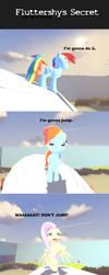 Fluttershy's Secret by Burossamu