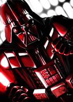 Darth Vader - seeing red by Robert-Shane