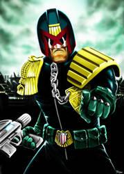 Judge Dredd is watching you by Robert-Shane