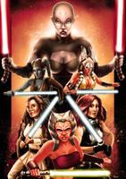 Star Wars - Female Force Five by Robert-Shane
