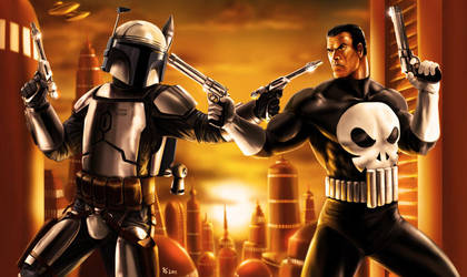 Jango Fett vs The Punisher by Robert-Shane