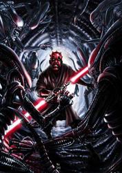 Darth Maul vs Aliens by Robert-Shane