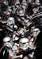 Stormtroopers vs Aliens by Robert-Shane