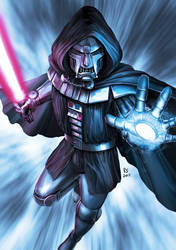 Star Wars meets Marvel - Darth Doom by Robert-Shane