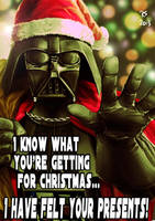 Merry Christmas from Darth Vader by Robert-Shane