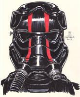#Inktober pen sketch - First Order Elite TIE Pilot by Robert-Shane