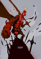 Hellboy by Auguy