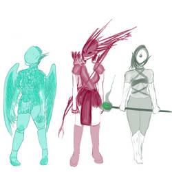 Three Warriors by NikaStryx