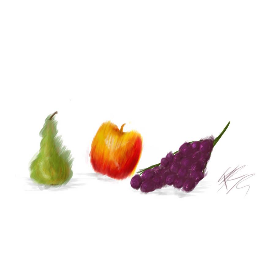 Painted Fruit by NikaStryx