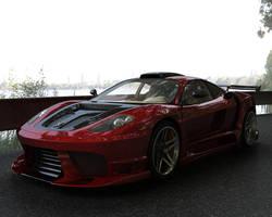 Red Ferrari by stefanmarius