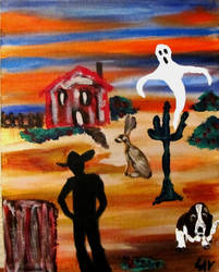A Cowboy, Cactus and Ghost by LAReal