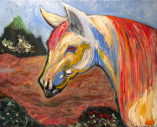 Horse of Many Colors by LAReal