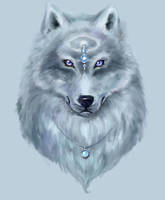 Ice wolf by Amales