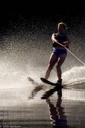 Waterskiing by skierscott