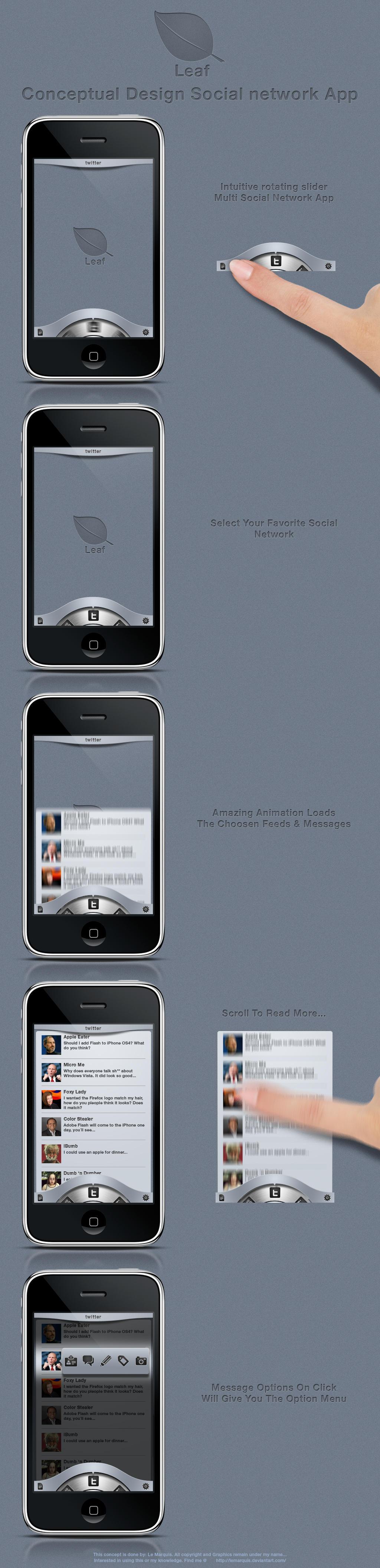 Leaf - Conceptual App Design by LeMarquis