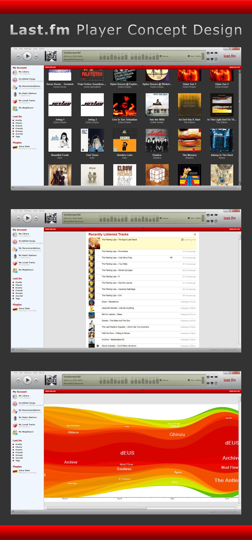 Last.fm Player Concept Design by LeMarquis