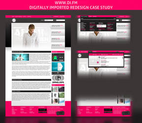 di.fm redesign case study by LeMarquis