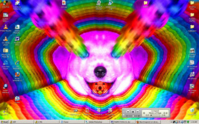 RAINBOW PUPPY DESKTOP LOLOLOL by Blue-Dragon22