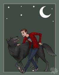 Moonlight Party :DerekxStiles: by Blue-Dragon22