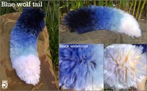 Blue Wolf Tail by Shinerai