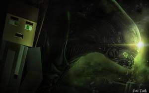 Photoshop Manipulation | Alien and Me Minecraft by TuriZsolt
