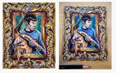 Spock with Vulcan Lute by Kokkinakis-Achilleas