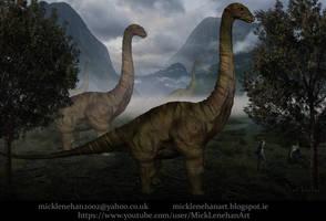 Long Neck Dinosaurs(timelapse in description) by Mick2006
