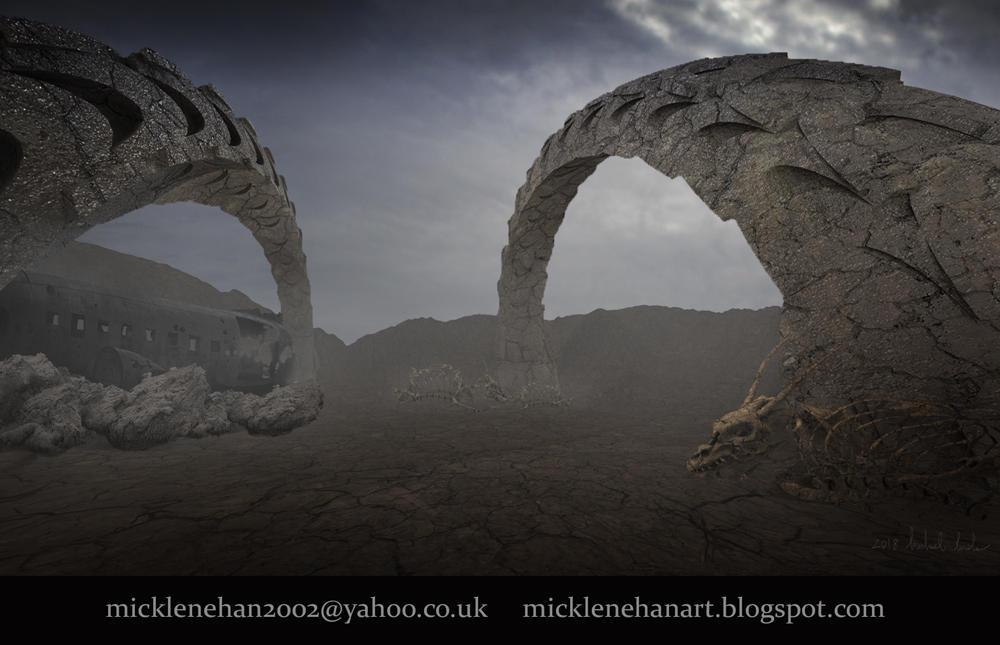 Dragon Graveyard by Mick2006