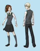 Hermione and Draco by Sailor-Kichi