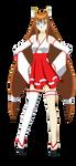 Mitsuko Sakuramoto (Miko Outfit) by Studio-Mizuki
