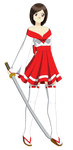 Hotaru Hayashi (Miko Outfit) by Studio-Mizuki