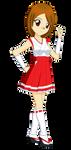 Chibi Hina Sakurai (Miko Outfit) by Studio-Mizuki