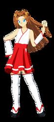 Ai Megami (Miko Outfit 3) by Studio-Mizuki