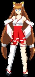 Mitsuko Sakuramoto (Miko Outfit 2) by Studio-Mizuki