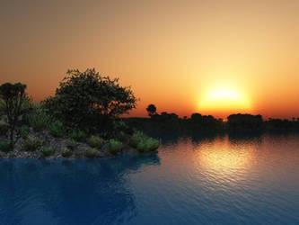 Sunset Lake by akaPREDADOR