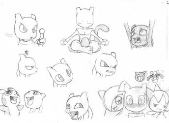 PMD:A.Knights -Mewtwo faces- by Esepibe
