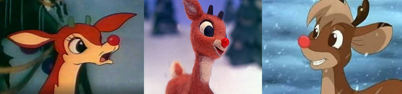 Different Versions of Rudolph by DEEcat98