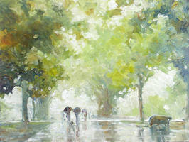 Rainy Avenue by litka