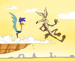 Wile E. Coyote and Road Runner by FabulousESPG