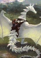 White dragon by Glad-Sad