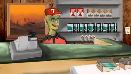 Shopkeeper by PilotRedSun