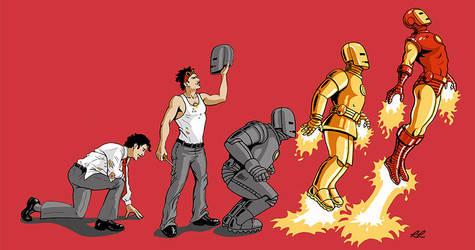 Evolution of Iron Man by Dragonflyrina