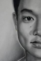 Self Portrait Charcoal by wbmstr