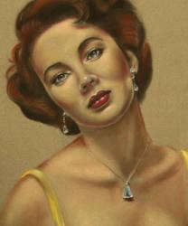 Elizabeth Taylor Portrait by wbmstr
