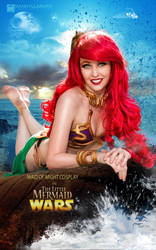 Slave Leia Ariel Cosplay Mashup by Maid of Might by wbmstr