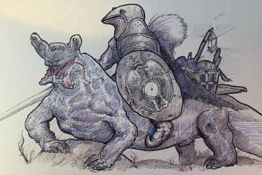 Slugligator Knight by LaGambaDelMare