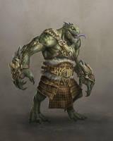 Lizardman Brute by Ancorgil