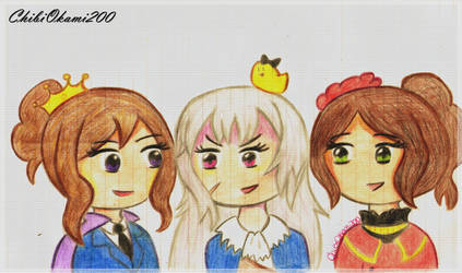 Nyo!Bad Friends Trio by CHIBIOKAMI200