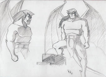 Goliath sketches 2 by KristyBarka