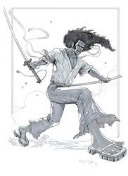 Afro Samurai by fernandomerlo